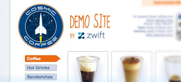 Online Ordering Demo Website - Cafe