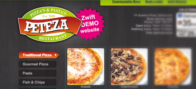 Online Ordering Try Out Website - Pizza Takeaway